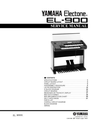 Yamaha Stagepas I User Manual